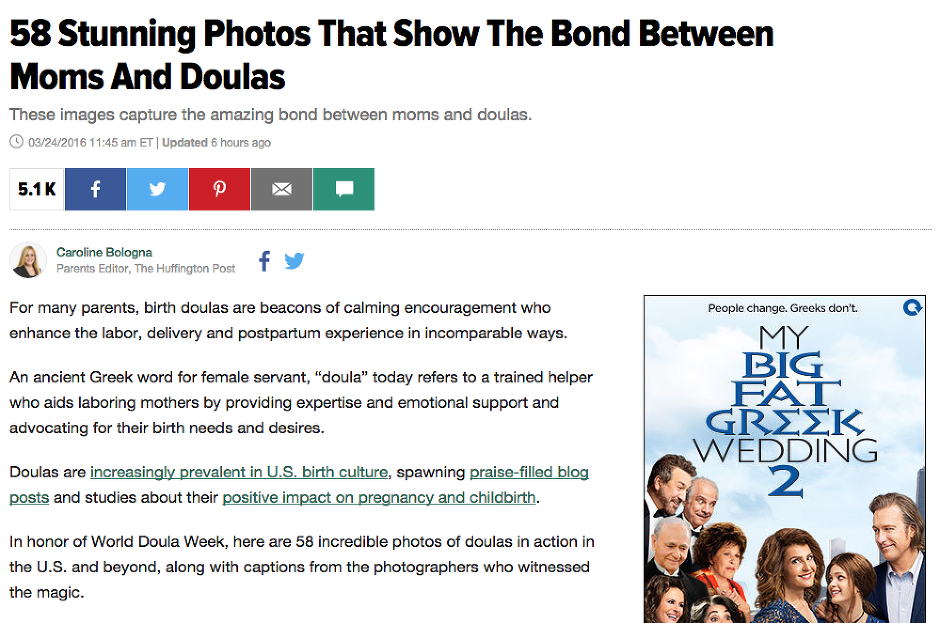 New Orleans Doulas on Huffington Post